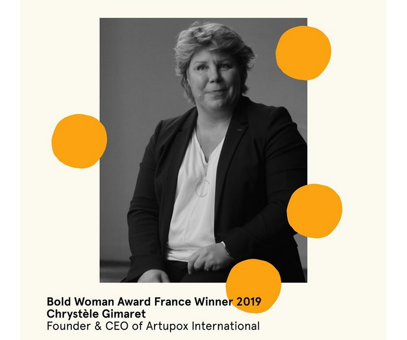 Chrystèle Gimaret winner of the 2019 Bold Woman Award