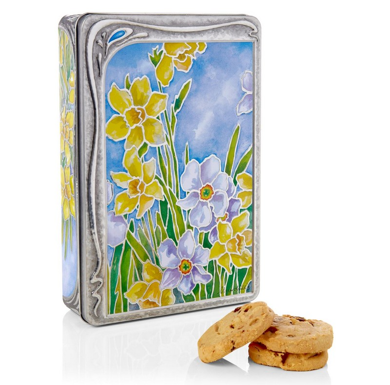 Churchill's Confectionery Daffodils Biscuit Tin