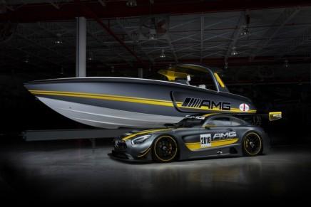 Mercedes-AMG GT3 inspires Cigarette Racing Team GT3 boat