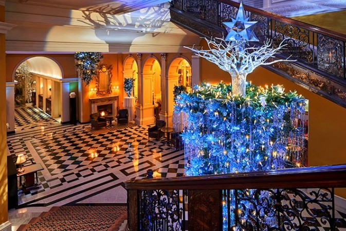 The inverted Karl Lagerfeld's Christmas Tree for Claridge's – the strongest 'souvenir' of a happy childhood