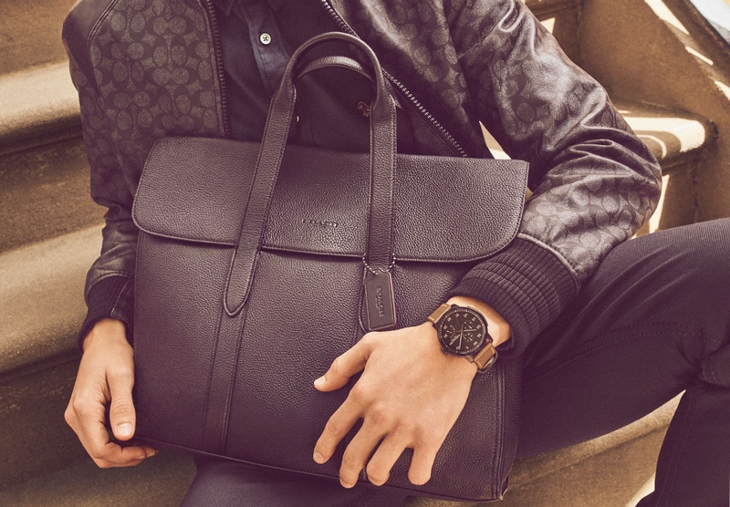 Coach menswear leather goods