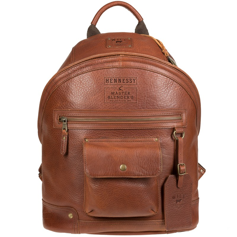 """Cognac-colored Master Blender's Selection N°3 """"Silas"""" backpack by Will Leather Goods"""