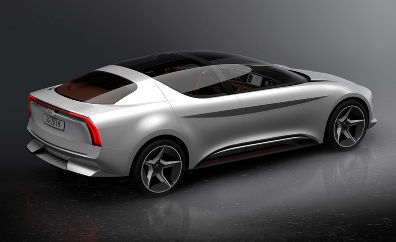Concept car unveiled by GFG Style and Envision-2018