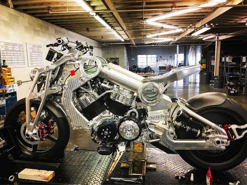 Confederate Motors is currently building up their first 2 seat Confederate machine in years