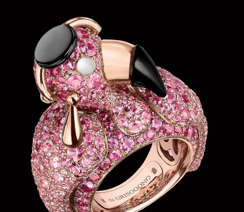 Crazymals jewellery by deGRISOGONO-lady flamingo