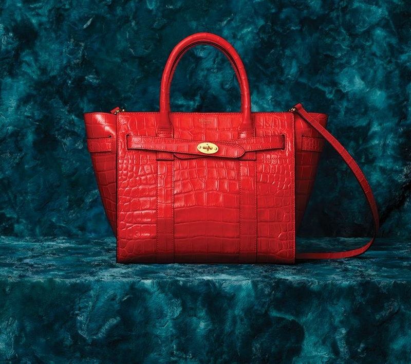 Croc Print Leather Mulberry