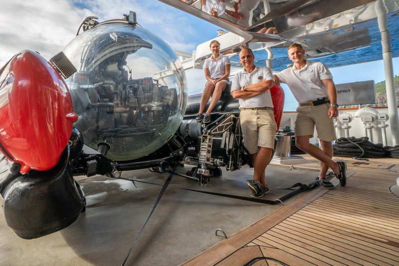 Crystal Esprit's submersible completed its 800th dive in beautiful St. Barths