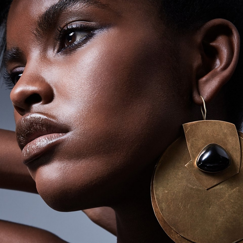 Cubist Double Disc Earrings