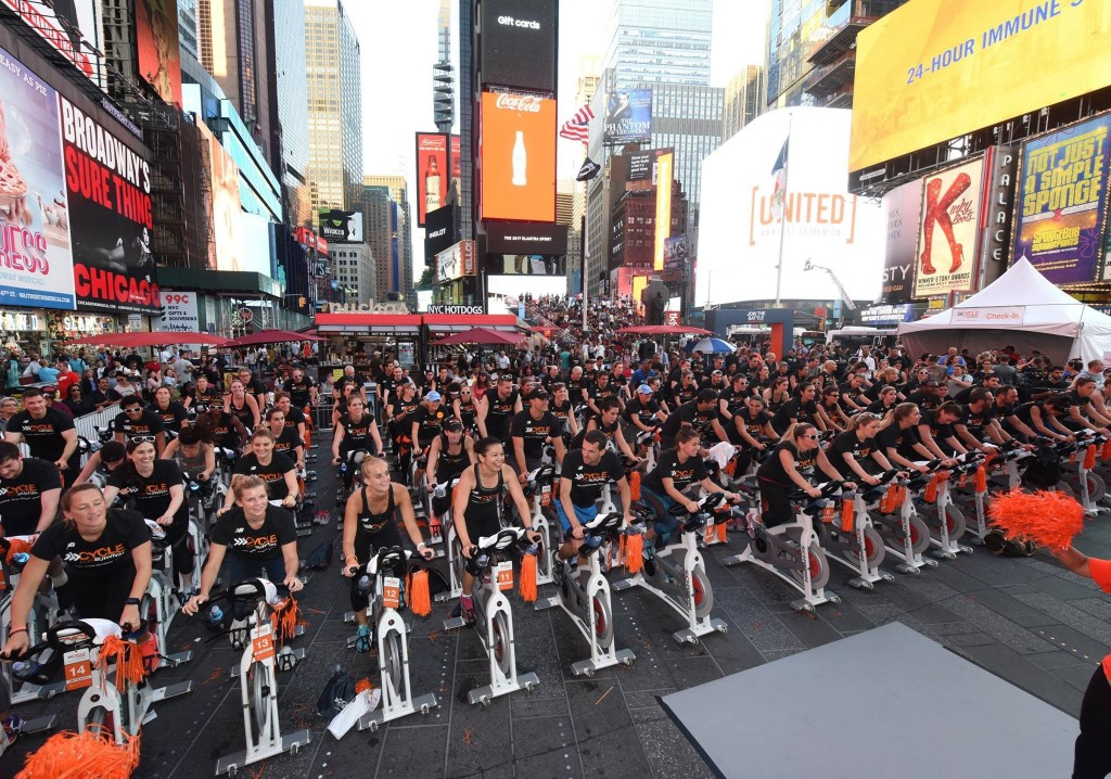 Cycle for Survival Times Square Takeover -Diane Bondareff AP Images for Cycle for Survival