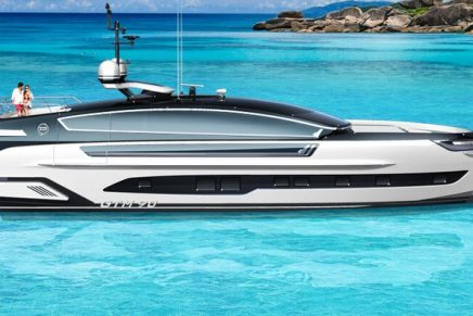 This Dynamiq GTM 90 yacht developed with exclusive German car tuner is designed for all climates