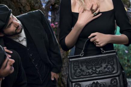 Claudia Schiffer in the Sicilian-themed Dolce & Gabbana campaign