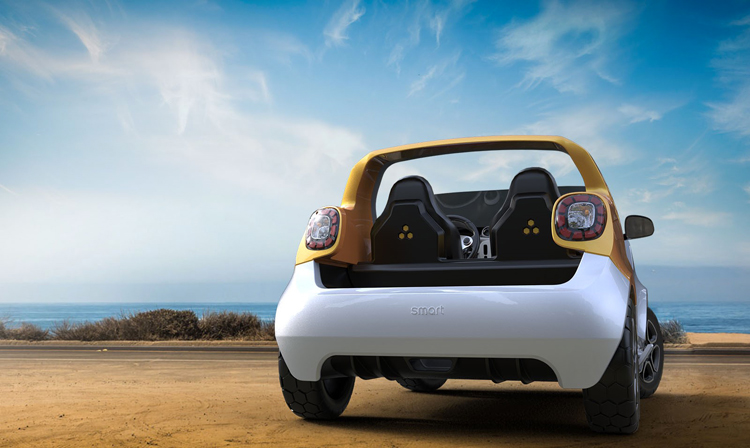 Daimler's first amphibious vehicle - smart forsea concept car-