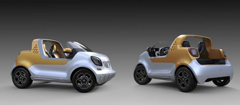 Daimler's first amphibious vehicle - smart forsea concept car-gallery