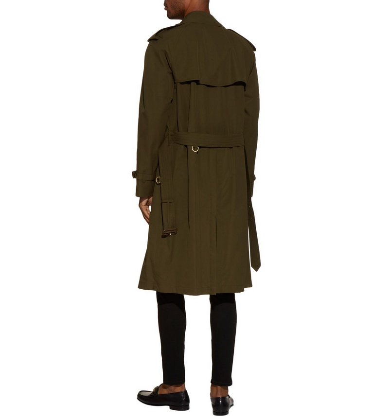 Dark Military Khaki Westminster Heritage Trench Coat by Burberry