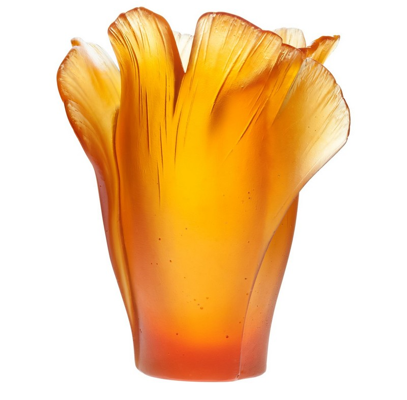 Daum Medium Gingko Vase
