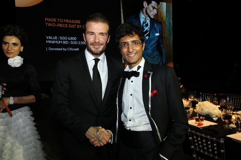 David Beckham with Karan Tilani