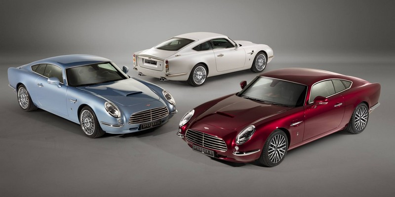David Brown Speedback GT - three Speedback GTs in red, white and blue exterior finishes