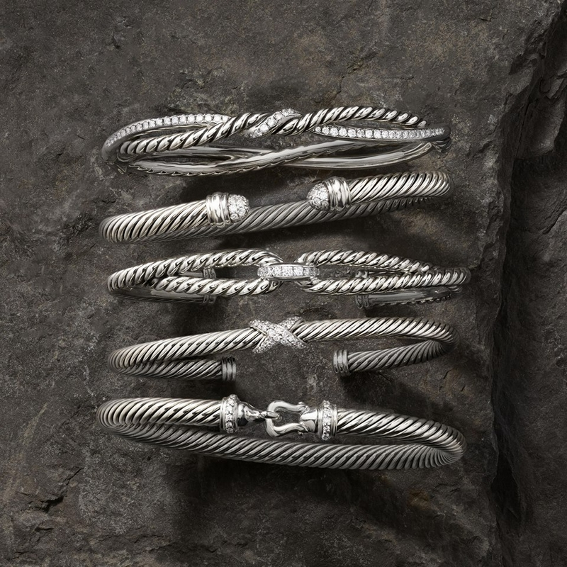 David Yurman Jewelry - new Crossover design easily stacks with other Silver Ice bracelets