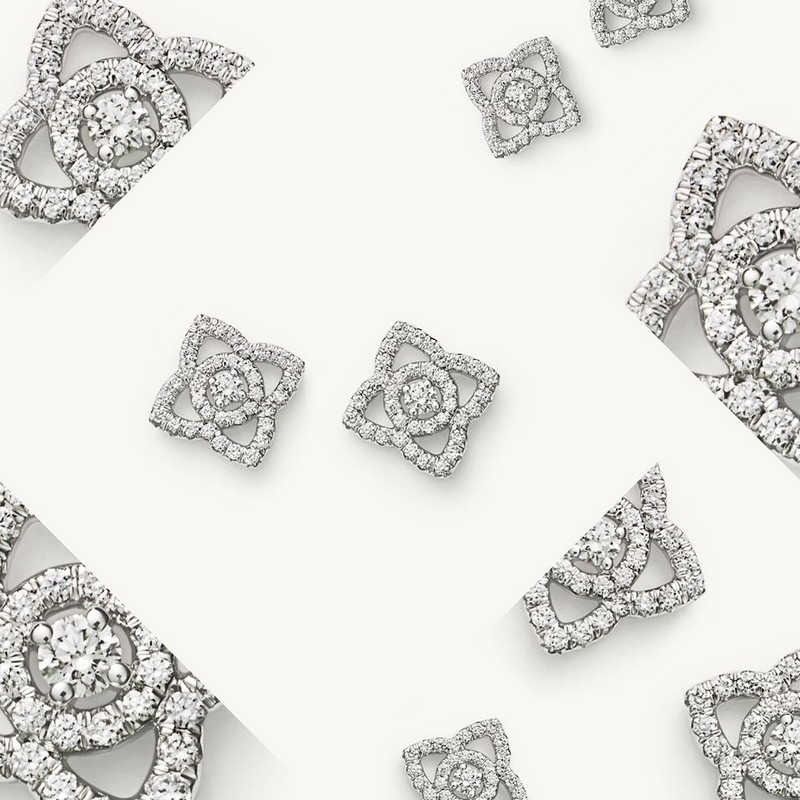 De Beers Enchanted Lotus collection is linked to eternity