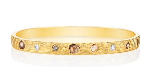 De Beers Yellow Gold Talisman Oval Bangle