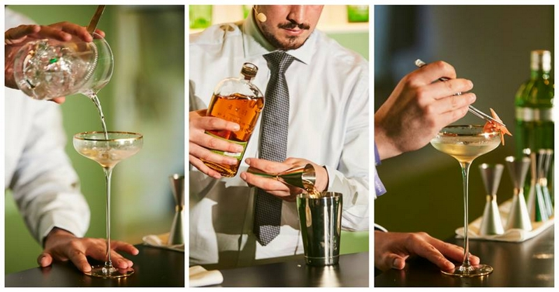 Diageo Bar Academy gallery - cocktails in the making