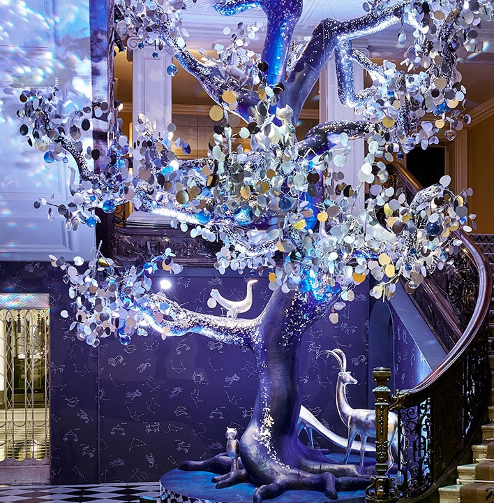 Diane von Furstenberg's The Tree of Love unveiled as Claridge's Christmas Tree-