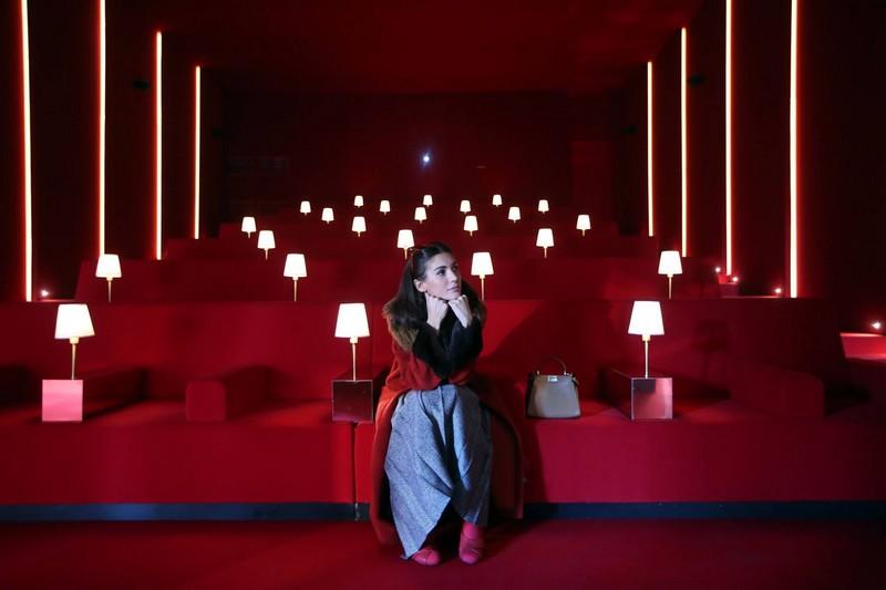 Diletta Bonaiuti at Fendi Studios