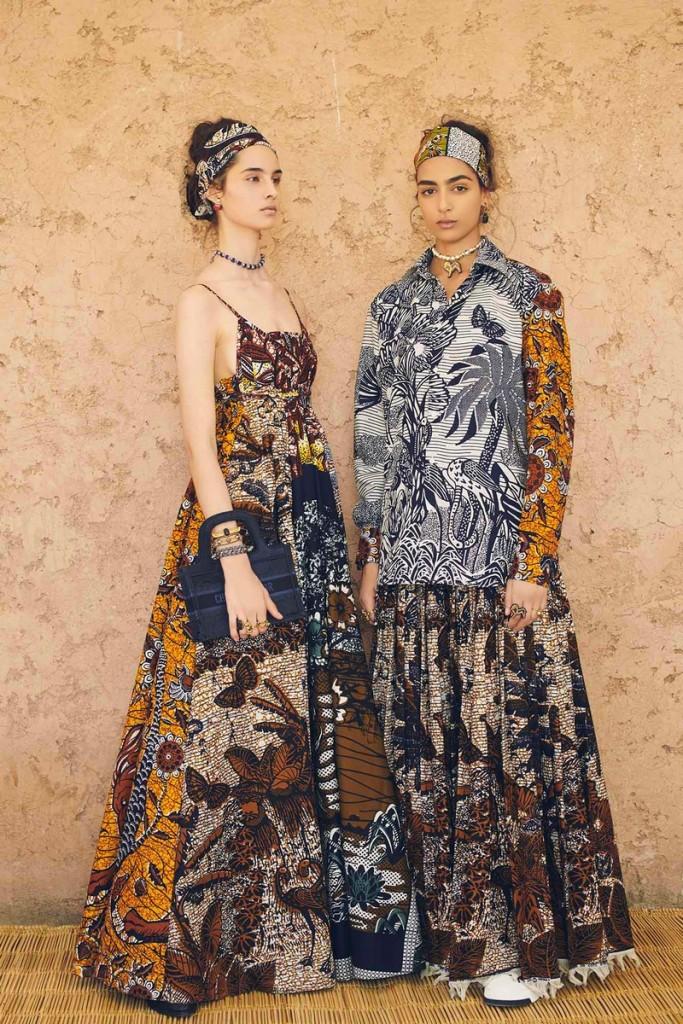 Dior 2020 Cruise at El Badi Palace - Silhouettes 100 percent WAX fabrics-