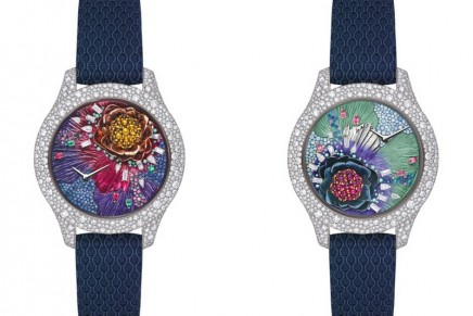 Dior's Grand Soir Botanic watches turn the spotlight on flowers that seem to be growing under the glass