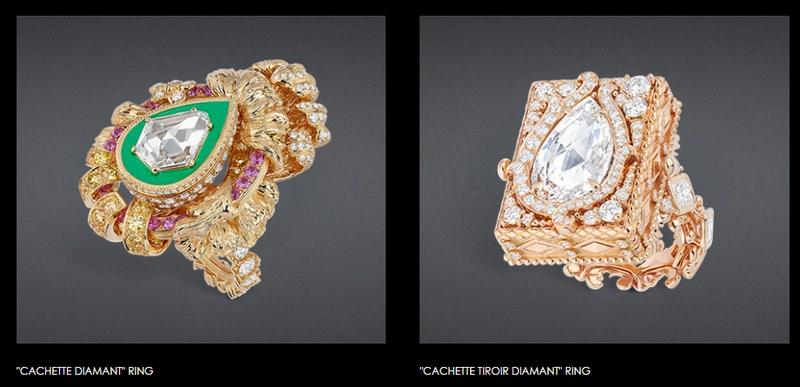 Dior Haute Joaillerie 2018 -Versailles III - cachette diamant rings