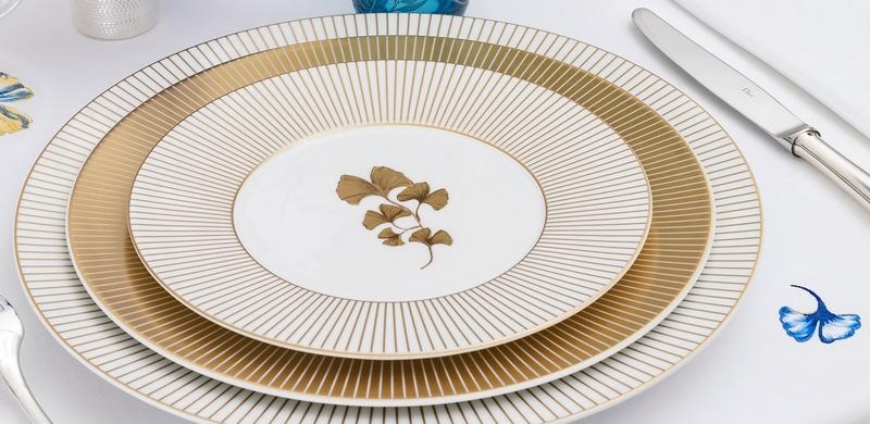 Dior Maison Ginko luxuryTableware closeup