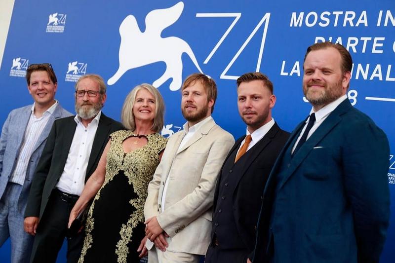 Director Hafsteinn Gunnar Sigurðsson and the cast at the photocall