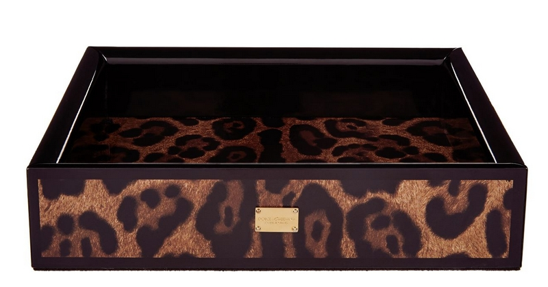 Dolce & Gabbana Leo Tray with Leopard print
