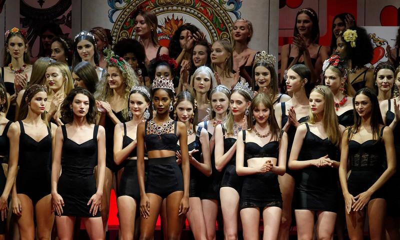 Dolce & Gabbana Spring Summer 2018 Fashion Show during Milan Fashion Week