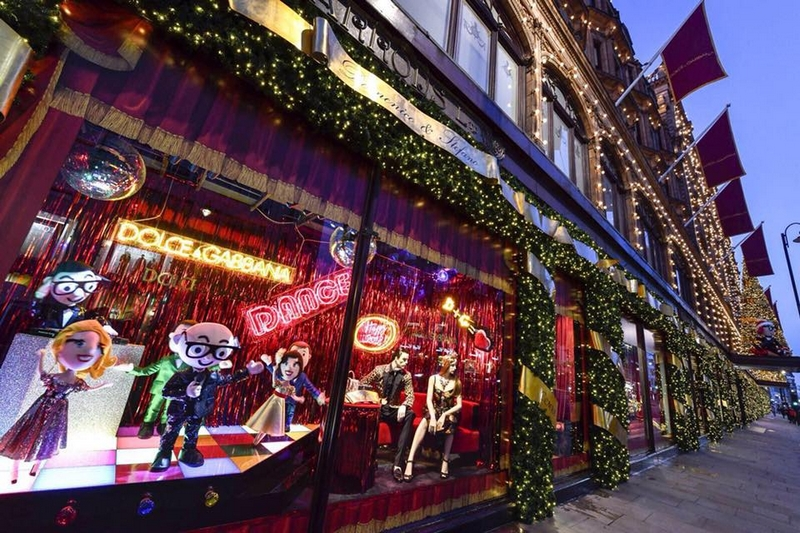 Dolce & Gabbana brings the magic of an Italian Christmas to Harrods London