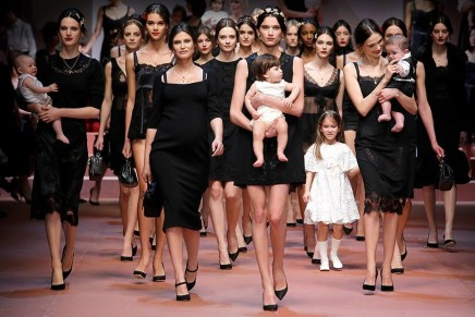 Dolce & Gabbana celebrates motherhood at Milan fashion week