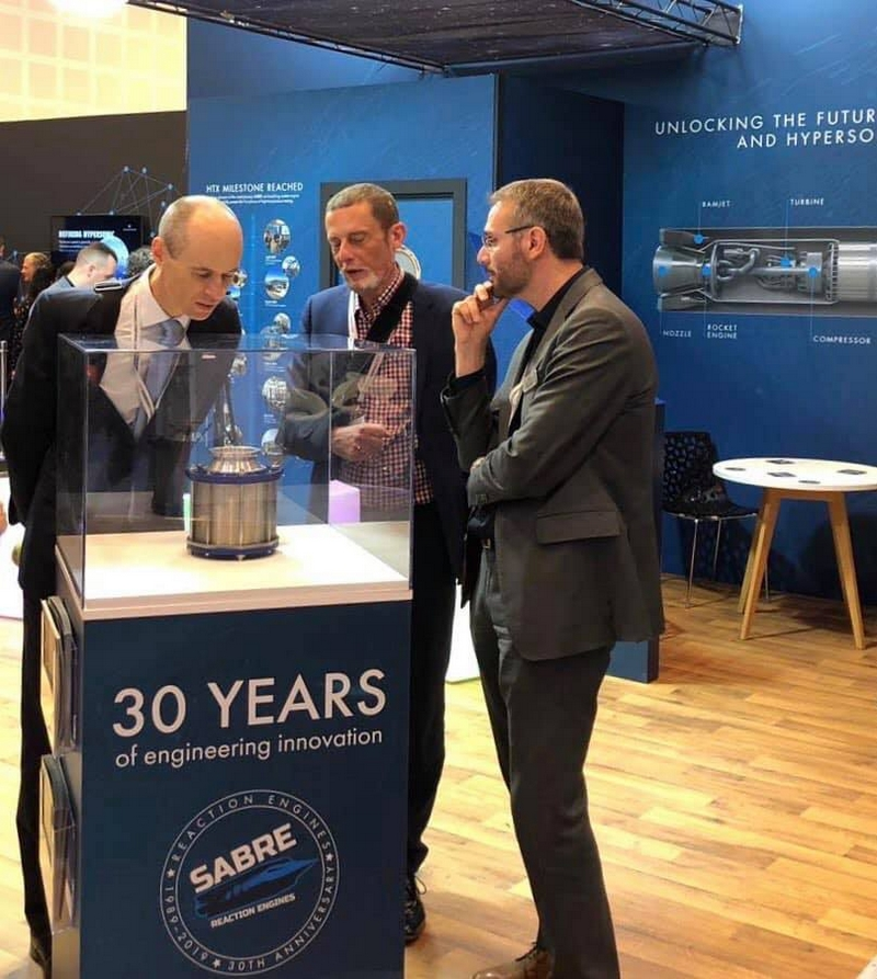 Dr.Graham Turnock, CEO of the UK Space Agency,at ReactionEngines stand