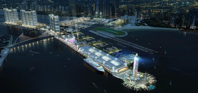 Dubai Harbour renferings