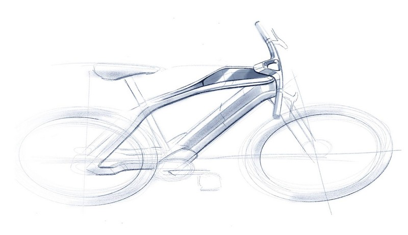E-voluzione, the first electric bike designed by Pininfarina.