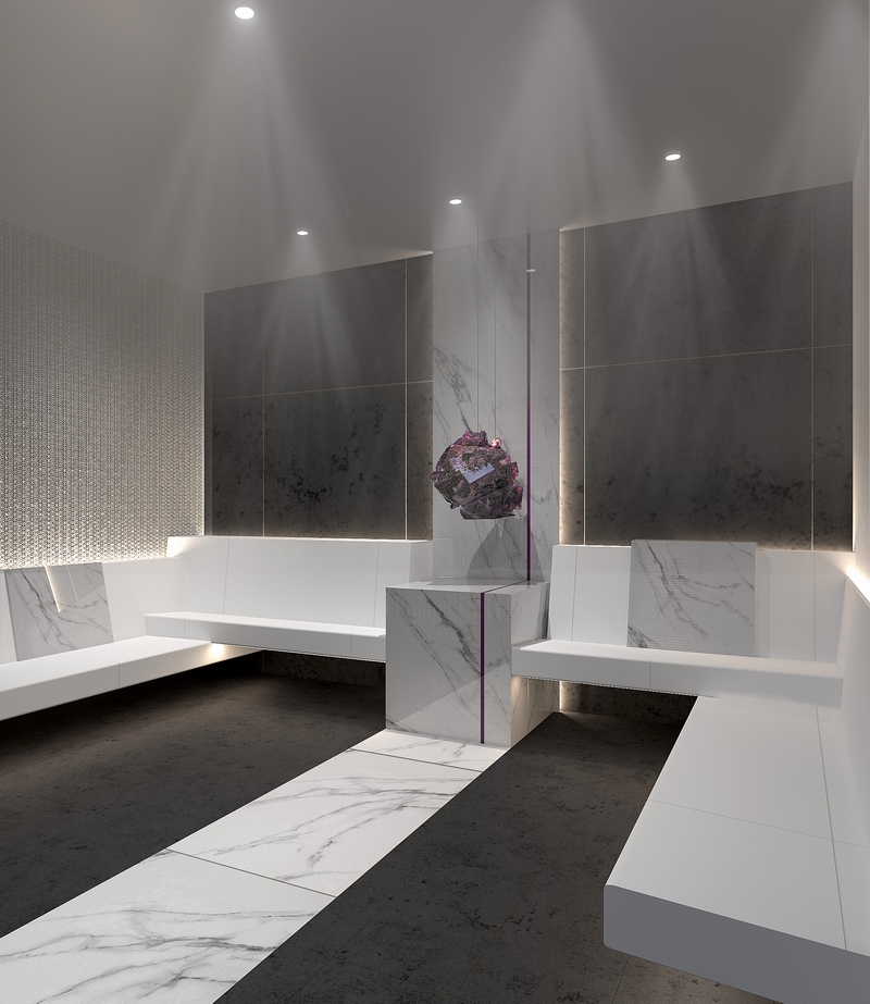 Earth is the element that drives the luminous Crystalarium at The Spa on Celebrity Edge,