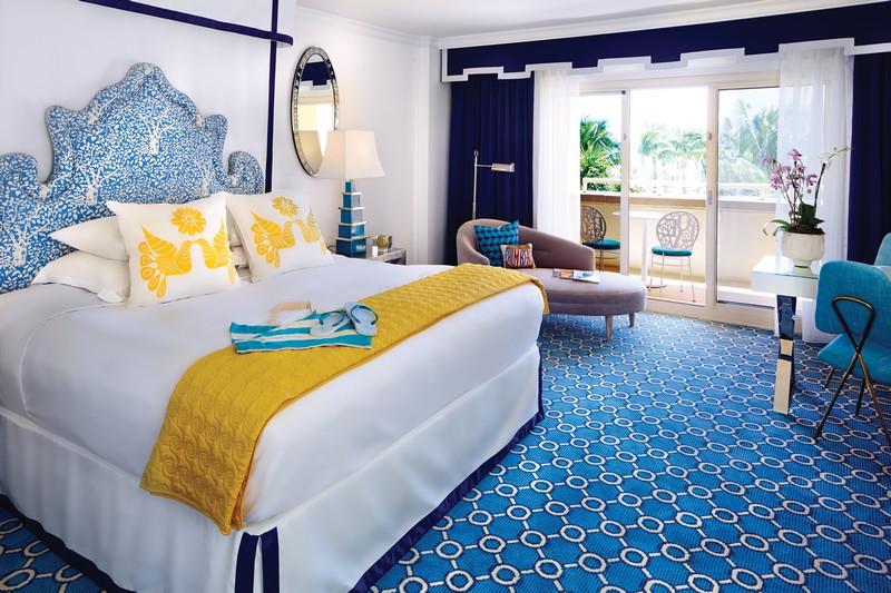 Eau Palm Beach Resort & Spa - Jonathan Adler designed guest room at Eau Palm Beach Resort and Spa
