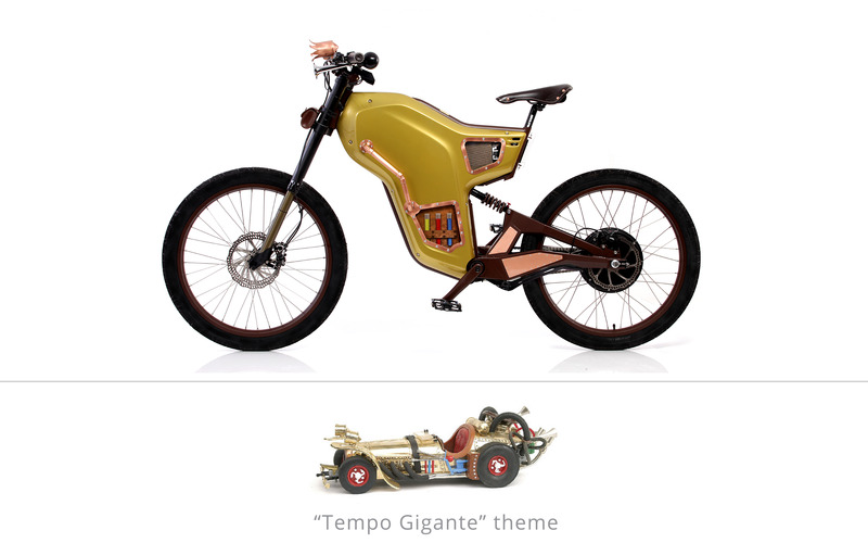 Electric Greyp G12 - custom electric bicycles - tempo gigante theme