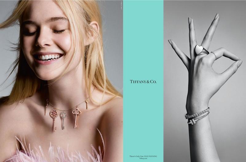 Elle Fanning with multiple Tiffany Keys