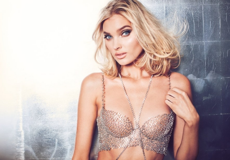 Elsa Hosk wearing the 2018 Victoria's Secret Dream Angels Bra made exclusively and designed by Atelier Swarovski with Swarovski Created Diamonds