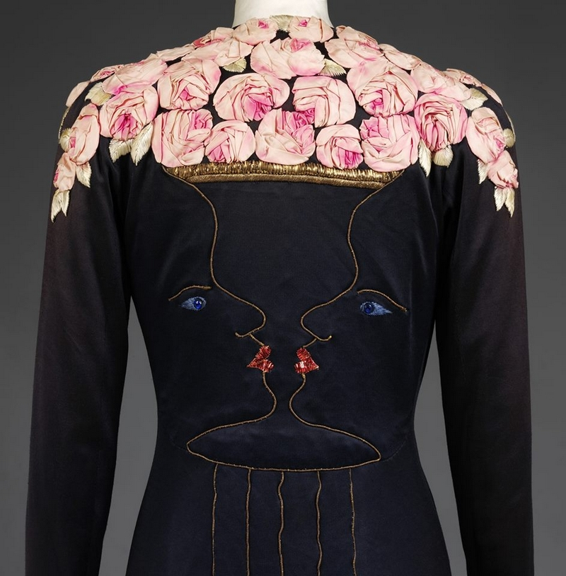 Elsa Schiaparelli evening coat was the result of a magnificent collaboration with Jean Cocteau