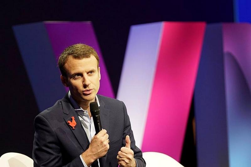 Emmanuel Macron on stage at VivaTechnology paris 2016