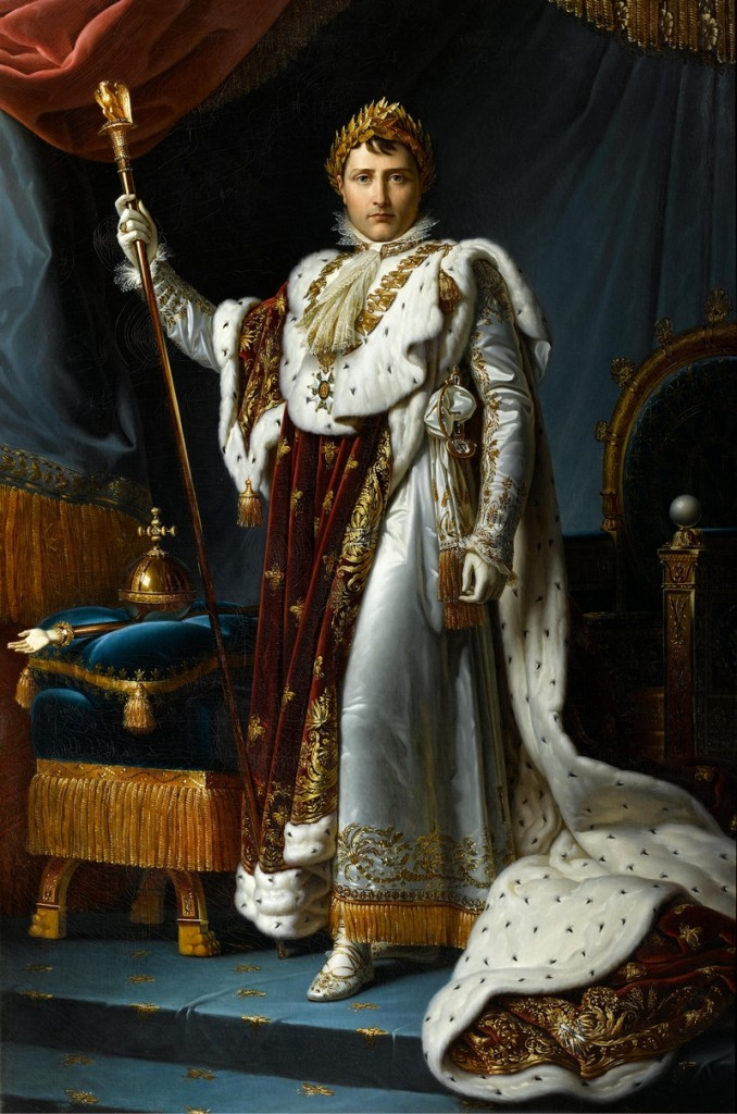 Emperor Napoleon I in coronation robe with Chaumet jewels
