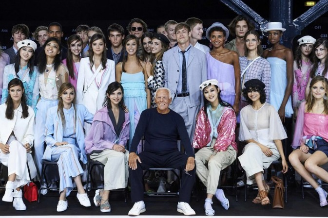 Armani appeals to fans old and new with London fashion week show