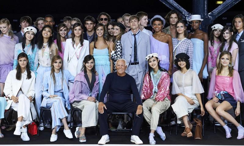 Emporio Armani Spring Summer 2018 Show at London Fashion Week