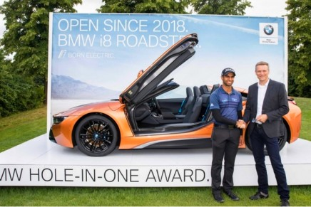 BMW Hole-In-One Award 2018: England's Aaron Rai wins the new BMW i8 Roadster with a hole in one